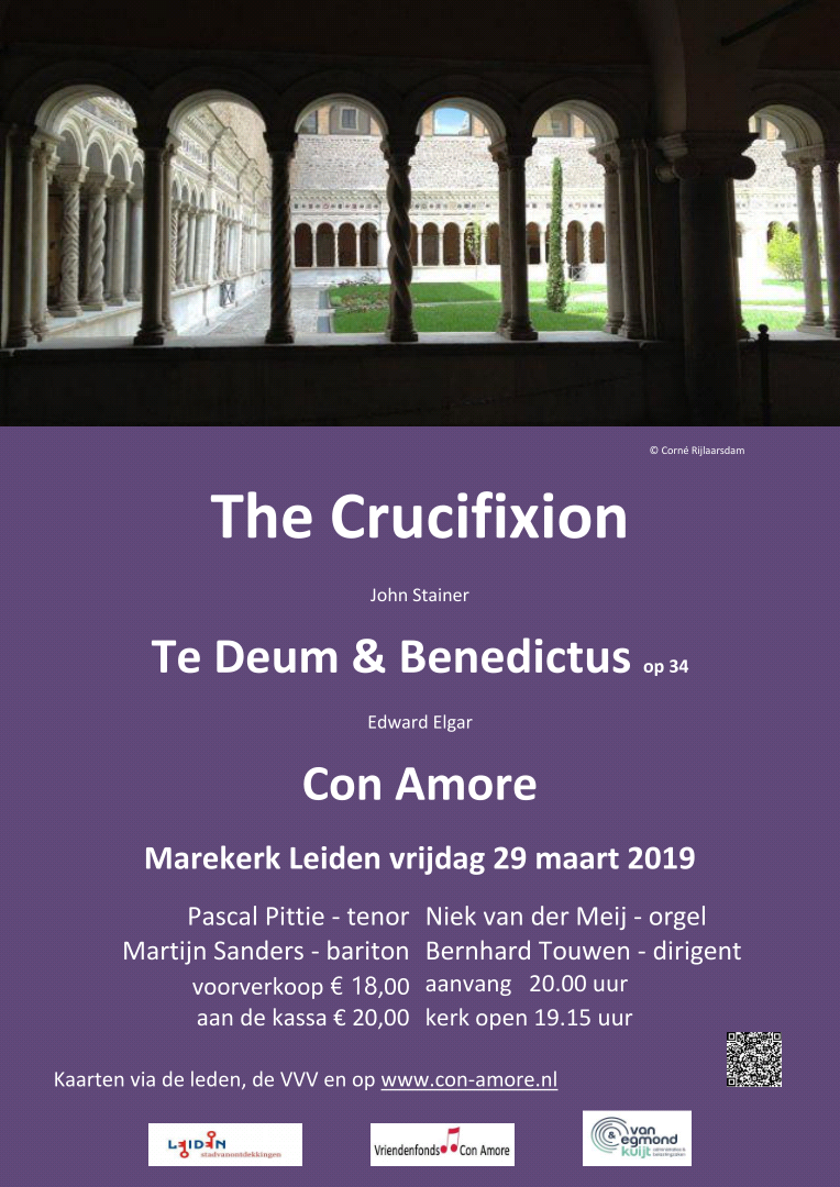 Flyer The Crucifixion paars